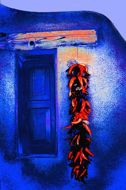 Chris Brock   Blue Door Red Rista 24x36 Giclee